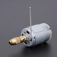 DC12V 10500 RPM/min Prensa Dril de Metal Mini Mirco Eléctrico PCB Drill Motor de Giro Juego de Brocas 6 unids 0.5-3.0mm Collar de Perforación