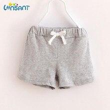 LONSANT New 2017 Bermudas Menina Children Cotton Shorts Baby Girls Clothes Meisjes Kids Korte Broek Fashion Solid Pants
