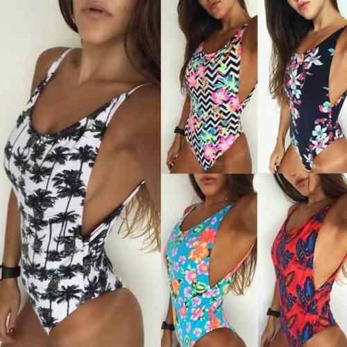 2018 été femmes une pièce Bikini push-up rembourré maillot de bain costume taille S-XL