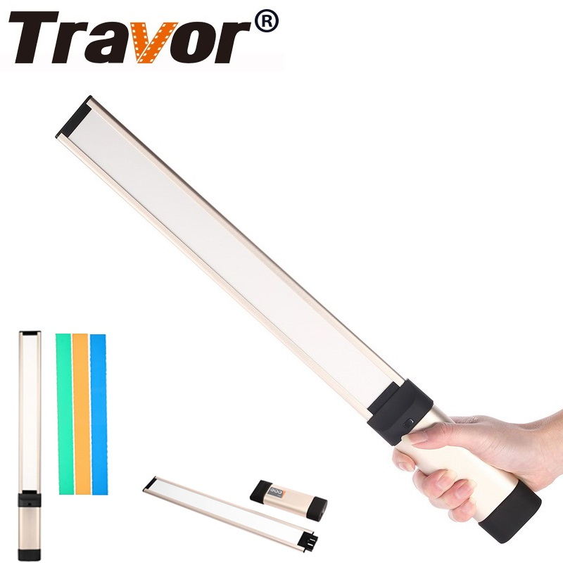 Travor LA L2 Hand held LED Photography Light Video Light With 18650 Battery 3 Color Filters
