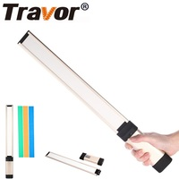 Travor LA L2 Hand held LED Photography Light Video Light With 18650 Battery 3 Color Filters For Studio Video Shooting Photo