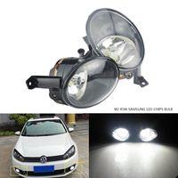 ANGRONG 2 x Updated Front Fog light Lamp 45W SAMSUNG LED Bulb L&R White For VW Golf 6 Plus 09 12