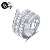 UNY Ring 925 Silver Snake Type Customized Engrave DIY Rings Personalized Engraving Mothers Ring Valentine's Day Woman Gift Rings