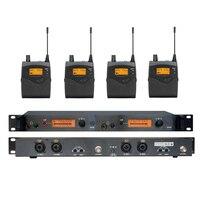 4 팩 수신기 + 무선 귀 모니터 시스템  전문 듀얼 채널 송신기 sr 2050 iem