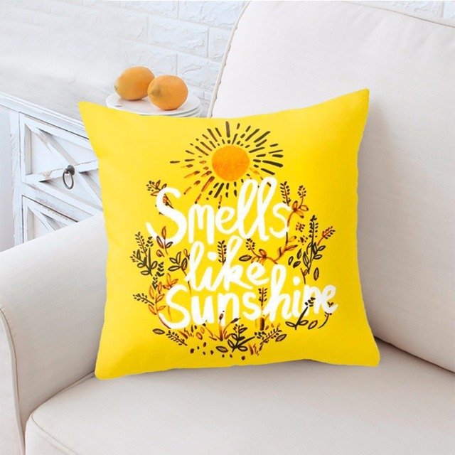Yellow Decorative Pillow Covers 17 x 17 inch
