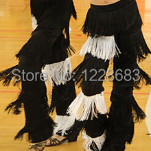 38a3e170b Women Ladies Girls Jazz Samba Fringe Dance Pants Black Red Purple Blue  White Fringe Latin Dance
