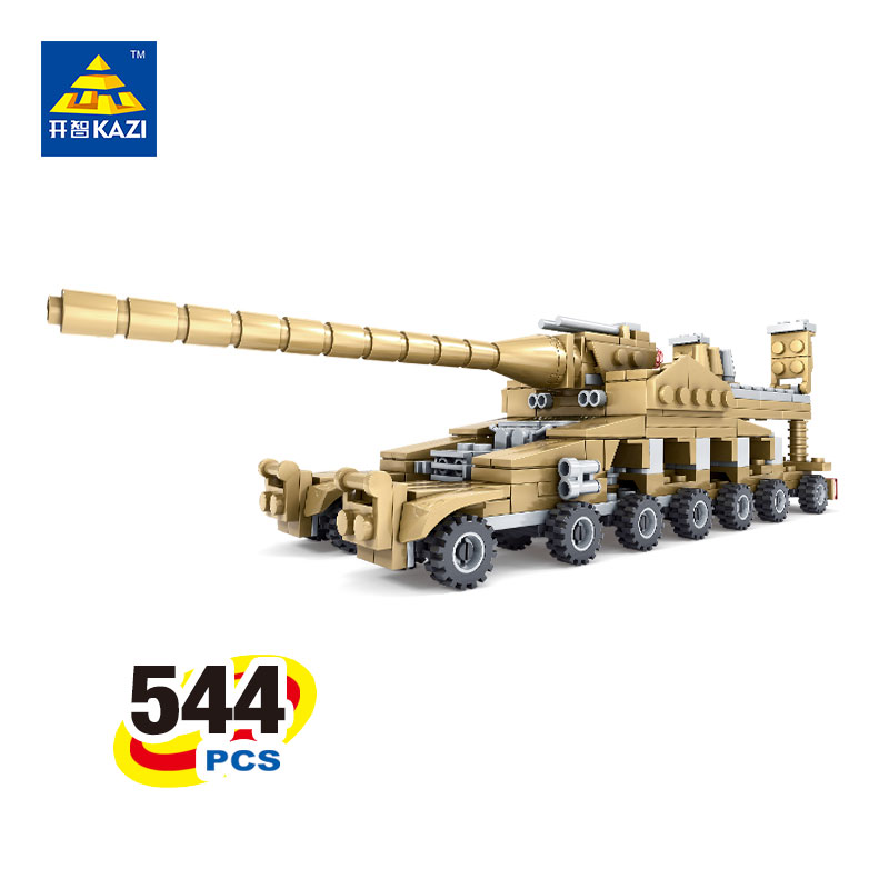 KAZI Military Super Tanks Building Blocks 16 in 1 Sets Army Bricks Model Brinquedos Toys for Children 6+Ages 544pcs 84031 kazi 228pcs military ship model building blocks kids toys imitation gun weapon equipment technic designer toys for kid