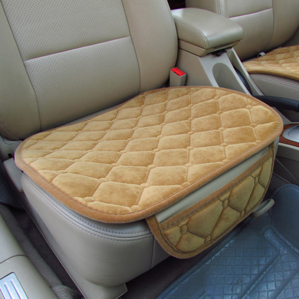 Universal Car Seat Cushion Non-Rolling Up Winter Velvet Vehice Interior Car-styling Deco ...