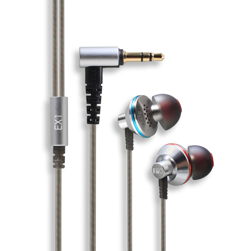 HBR Earphone For fiio EX1 Hifi in-ear Earphones Studio Metal Stereo Music Aerospace Titanium Super Bass For X7 X5 X3 X1