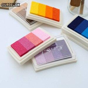 50 шт./лот 6 видов цветов самодельный DIY градиентный Цветной чернильный коврик разноцветная штемпельная подушечка для украшения штампов аксе...