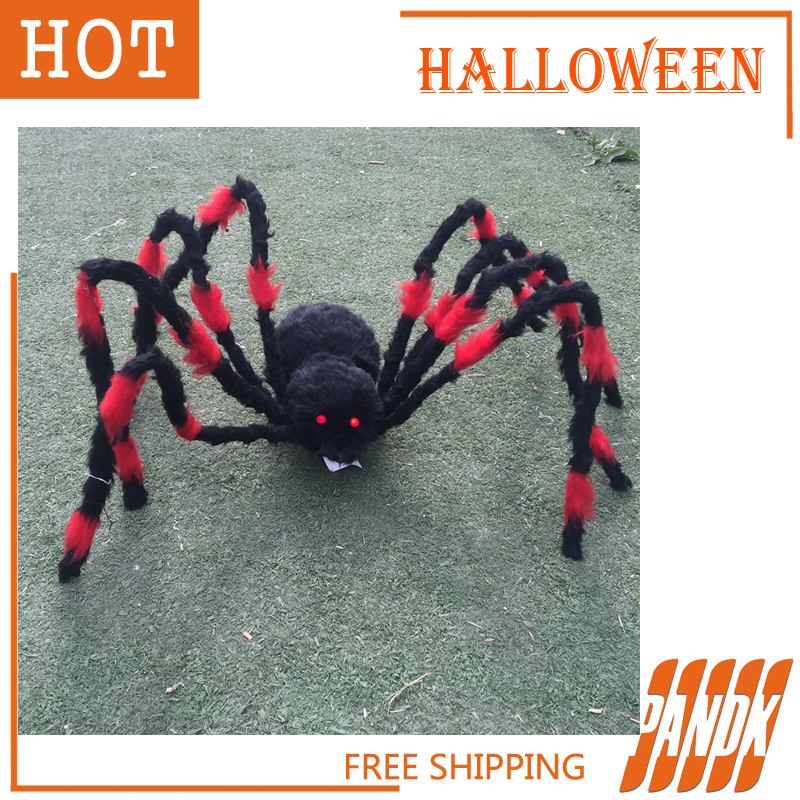 halloween decorations led color spider light halloween props haunted house ideas halloween spider party yard free shipping