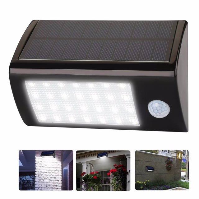 28 Led Solar Lights Motion Sensor Outdoor Light Waterproof Auto Security Night Detector Lighting For Patio