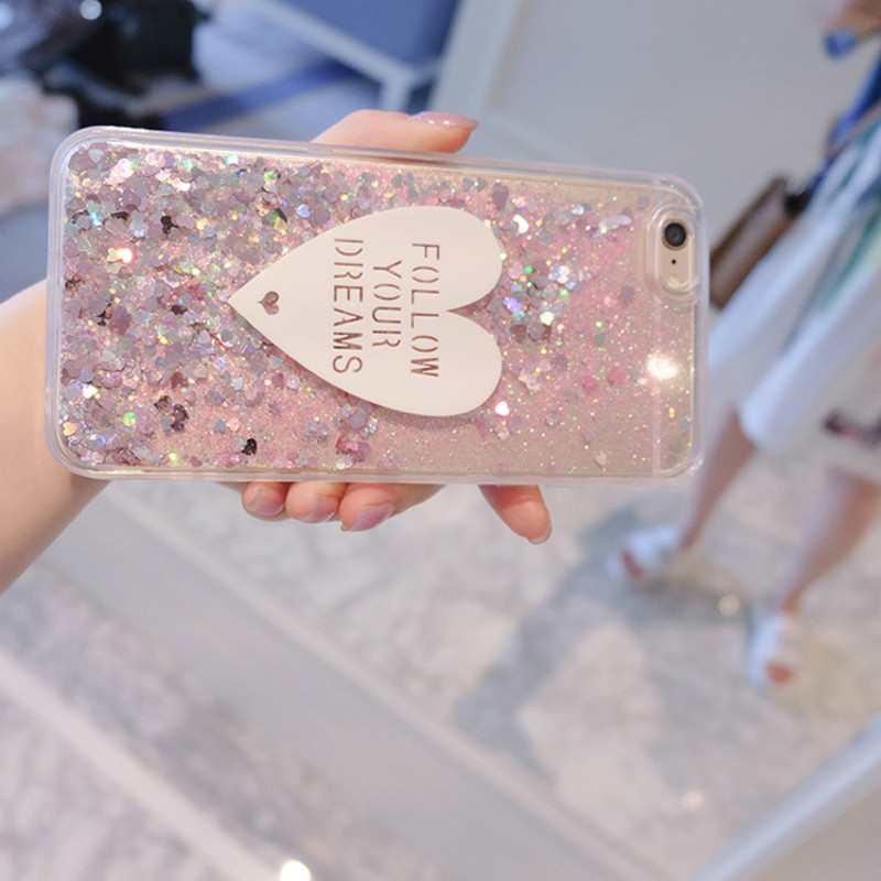 Phone Case For Nokia 2 3 5 6 7 8 9 7 Plus 2.1 3.1 5.1 6.1 7.1 Plus Cases 3D cute Love Glitter Liquid Soft TPU Silicone Covers