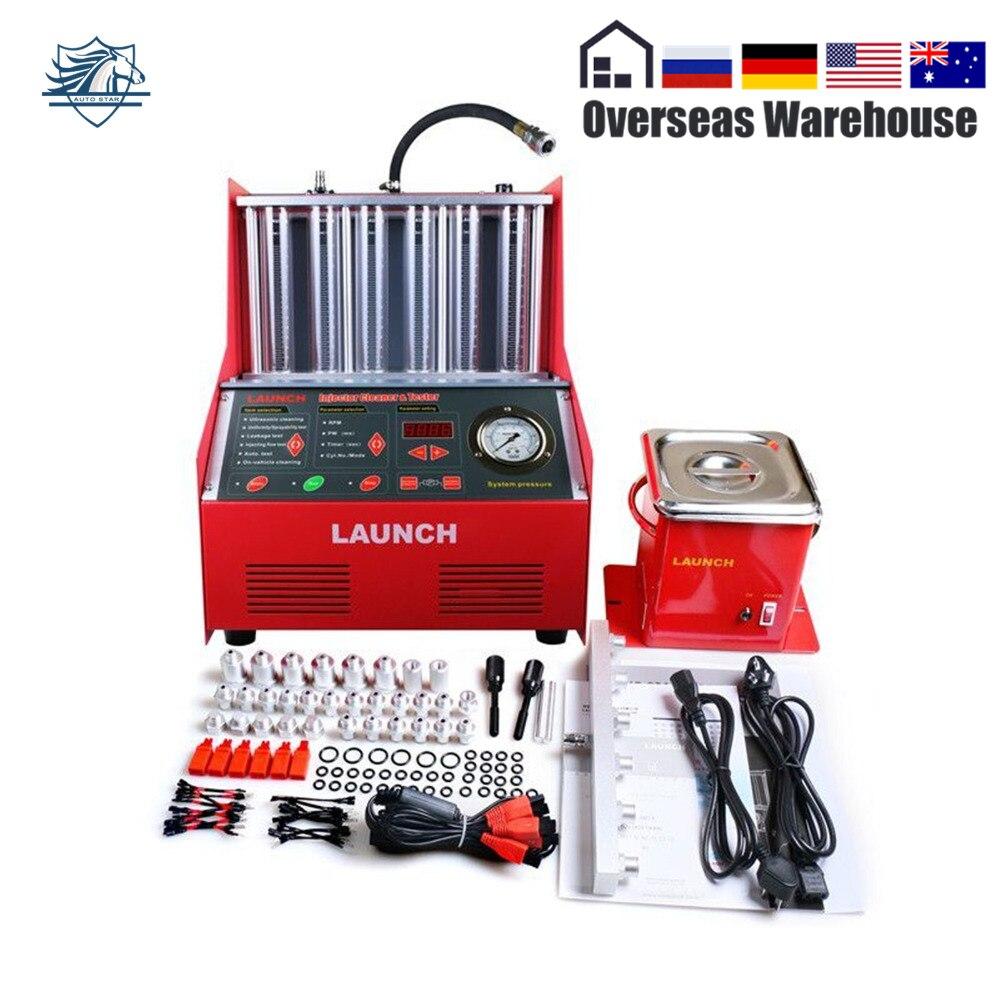 Brillant Autoparts Lancement 6-cylindre CNC602A Ultrasons Injecteur de Carburant Plus Propre Testeur Anglais Panneau Machine De Nettoyage
