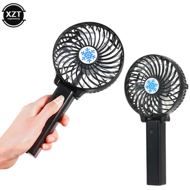 2019 Mini Portable USB Battery Fan Ventilation Foldable Air Conditioning Desktop Fans Cooler Mini Operated Hand Held Cooling Fan