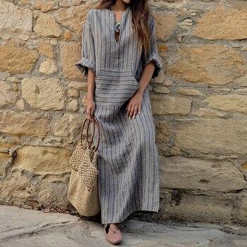 Loose Long Sleeves Retro Bohemian Style Dress
