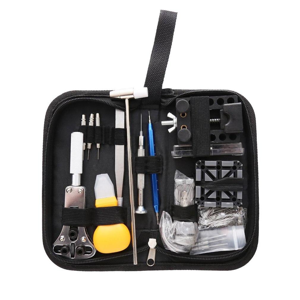 Outils horloger 144 pièces ouvre-montre dissolvant barre de ressort réparation montre réparation Kit d'outils avec sac dissolvant