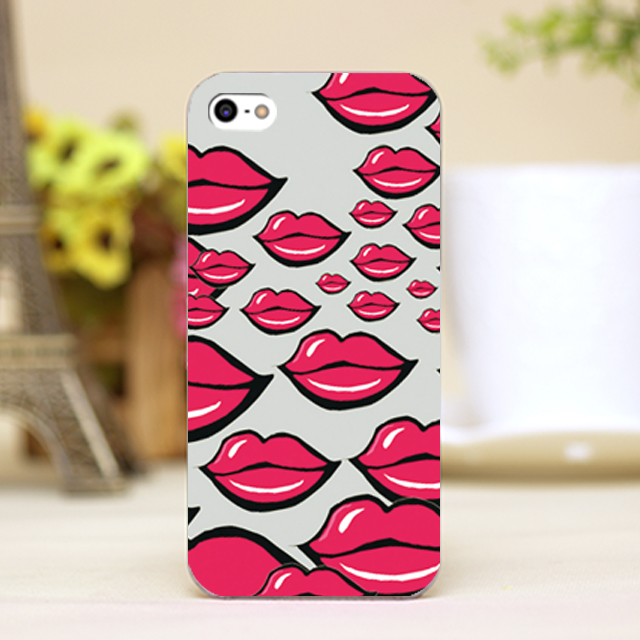 Sexy Lips Wallpaper Design Cell Phone Case Cover For IPhone 4 4S 5 5S 5C 6