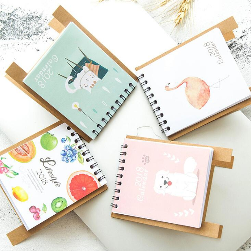 19*8.3cm Creative Desk Standing Paper Multifunction Organizer Schedule Planner Notebook 2018 Year New Kawaii Cartoon Calendar Office & School Supplies