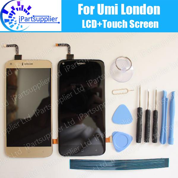 Prix pour Umi Londres Écran lcd + Écran Tactile 100% D'origine LCD Digitizer Verre de Remplacement Du Panneau Pour Umi Londres + outils + adhésif