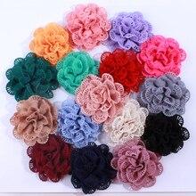 50PCS 10CM Wholesale Supply Chiffon Fabric Ballerina Flowers