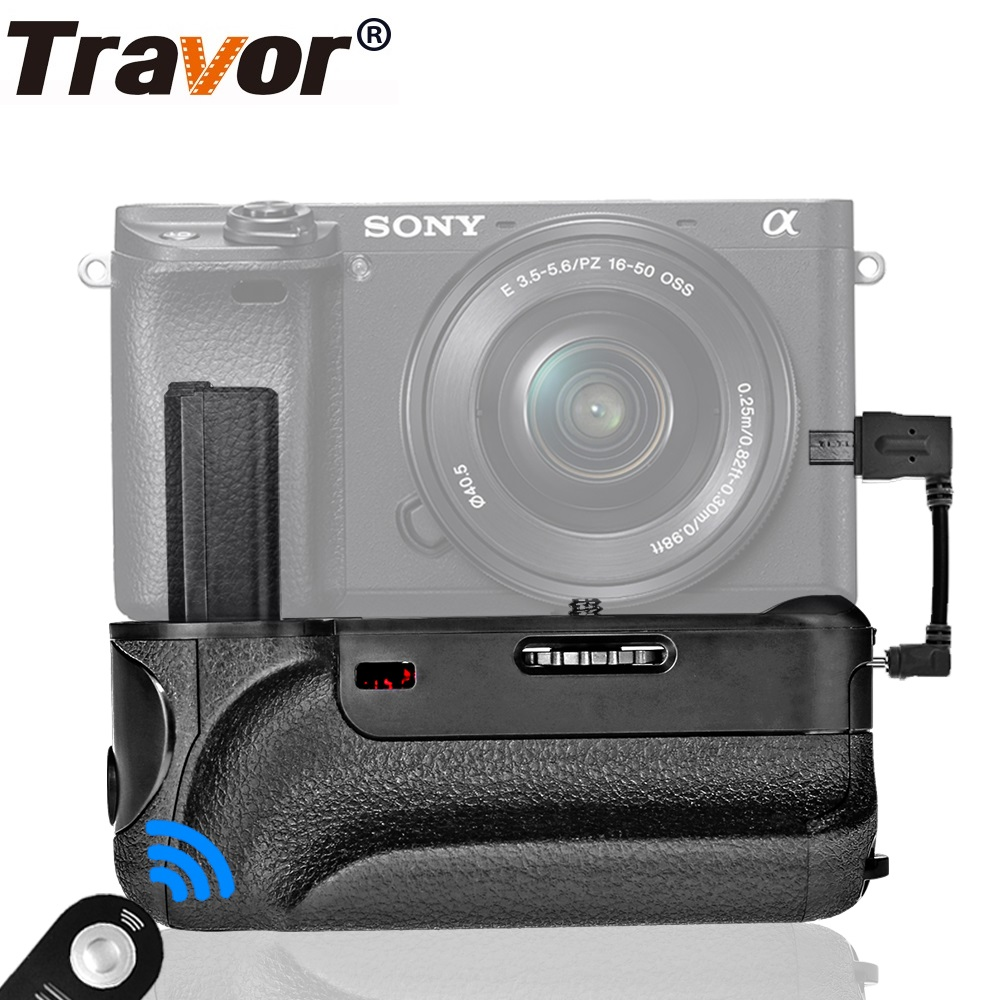 Travor Camera Battery Grip For SONY A6000 Digital Mirrorless Battery Handle Gift IR Remote Control Work With NP-FW50 Battery цена