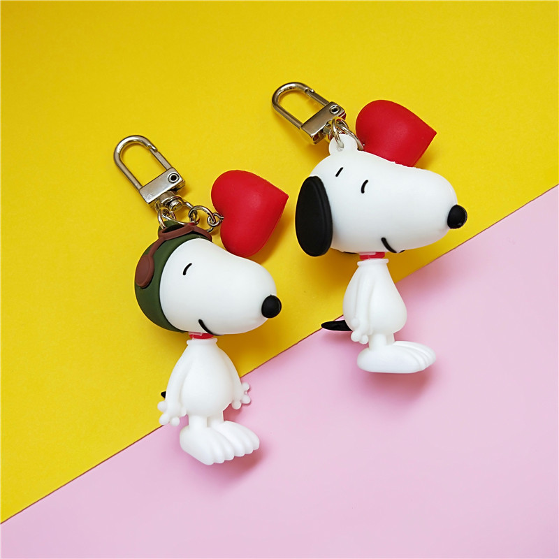 2019 New Fashion Dog Car Keychain Animal Couple Lovely Keychain Car Keyring Gift For Girl Women And Men Key Chain