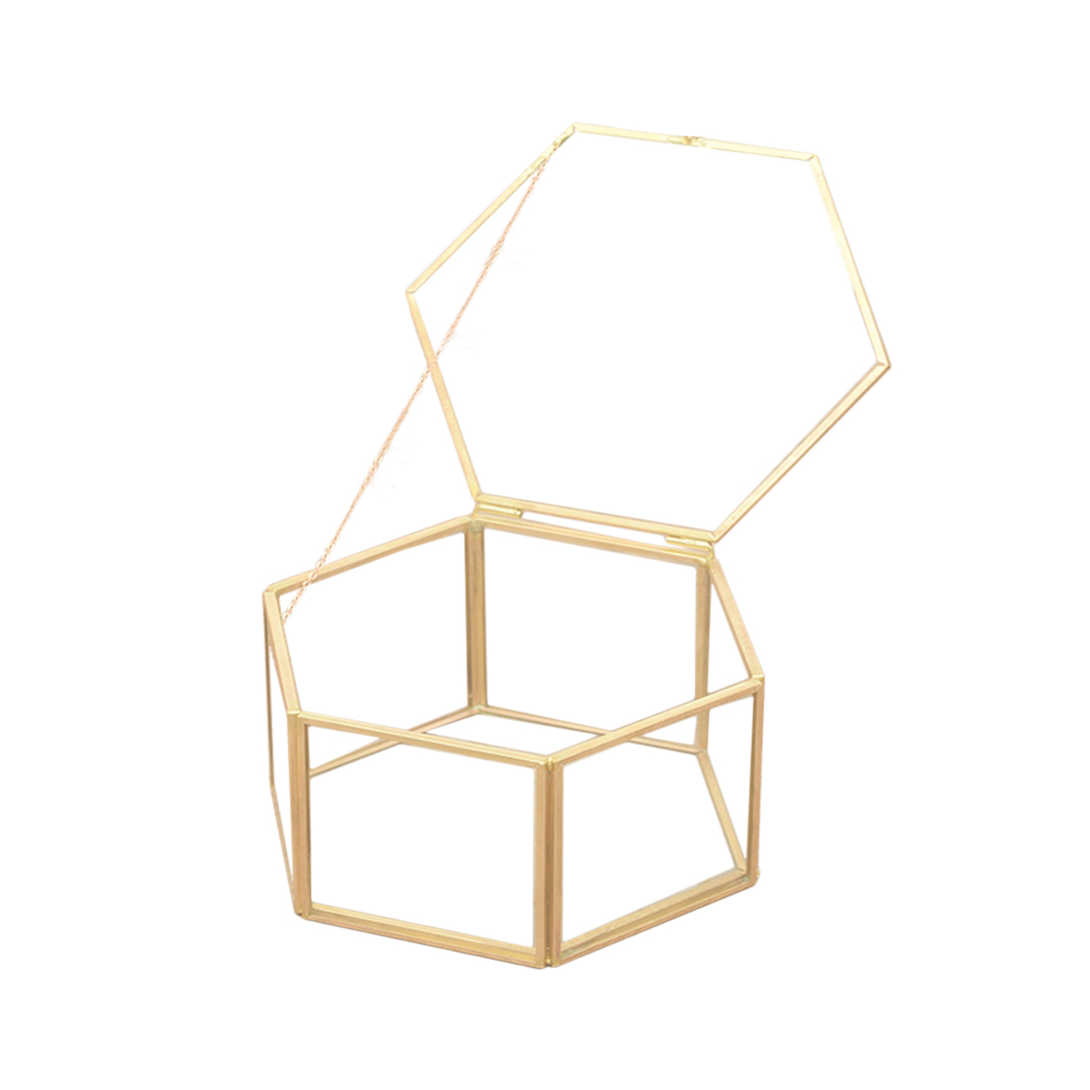 Storage-Box Geometric-Ring-Box Gift-Holder Jewelry Party-Decorations Glass Wedding-Favor title=