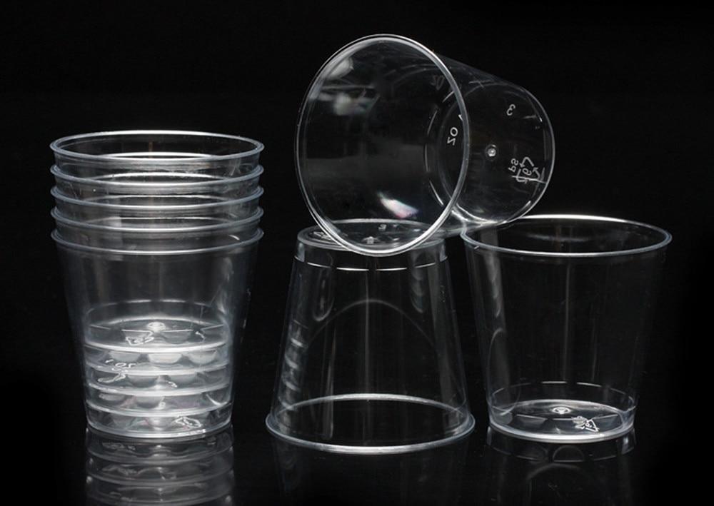 30 мл прозрачный мини-прозрачный многоразовый пластик одноразовые партии День Рождения Чашки для желе Tumblers вода напиток короткая чашка Лидер продаж