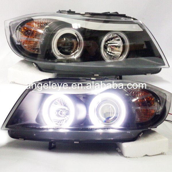 Head Lamp For <font><b>BMW</b></font> for <font><b>E90</b></font> 318i 320i <font><b>Front</b></font> <font><b>Light</b></font> 2005-2008 year CCFL Angel Eyes with Bi Xenon Projector Lens SN image