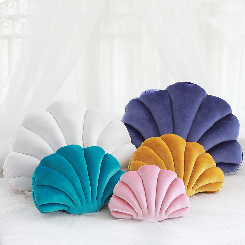 Creative Shell Toy Stuffed Soft Shell Plush Pillow 10 Colors Shell Throw Pillow Cushion Car Sofa Home Decoration Gift For Friend