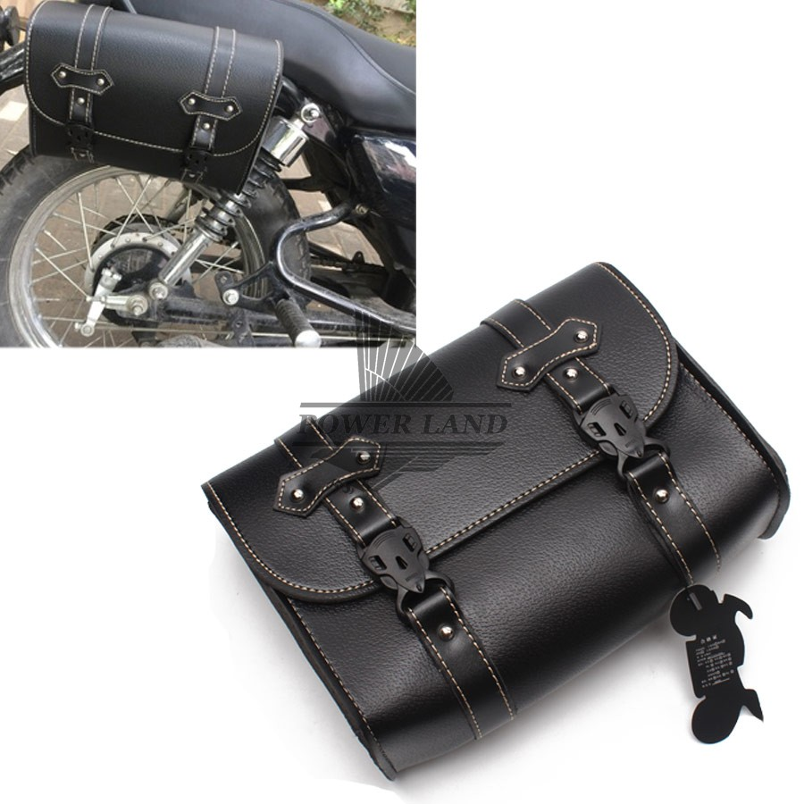 Motorcycle Saddlebags Saddle Bags for Sportster Softail Yamaha Honda Kawasaki Synthetic Leather Quick Release Buckles Side Luggage Bags