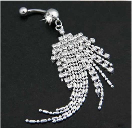 Unisex Phụ Nữ Đàn Ông Mix Đồ Trang Sức Cơ Thể Piercing Pha Lê Đôi Gem navel Navel Vành Thép Không Gỉ navel nhẫn body piercing jewelry
