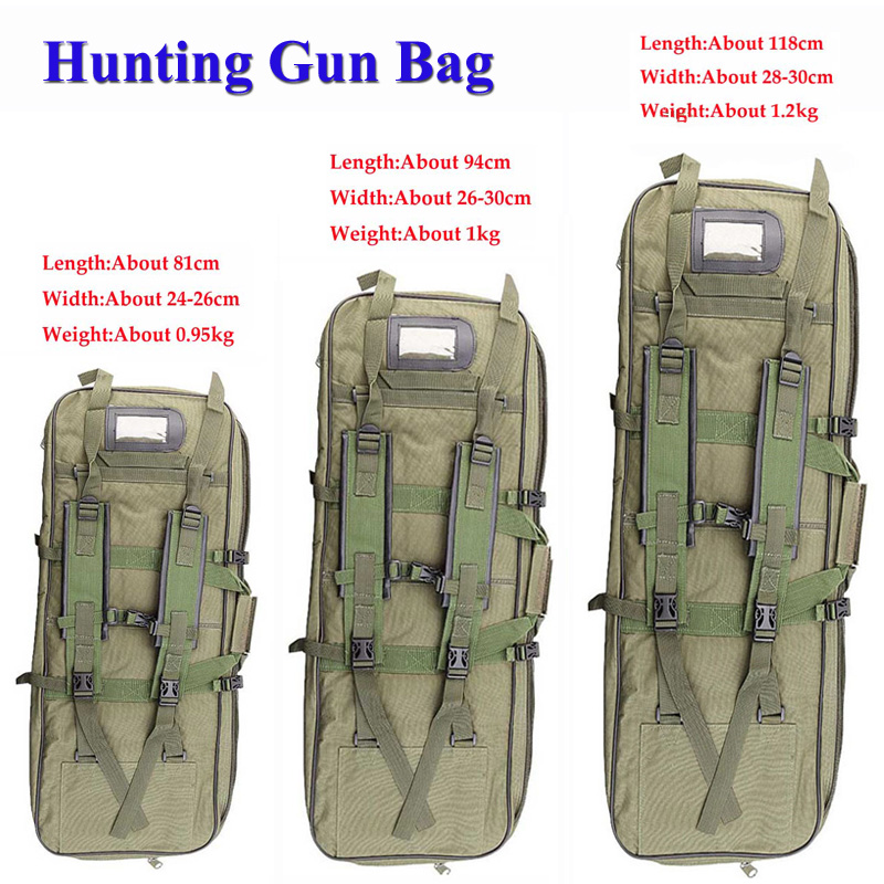 Hunting Equipment 81cm/94cm/118cm Tactical Gun Bag Army Military Airsoft Rifle Case Protection Bag Outdoor Shoulder Backpack