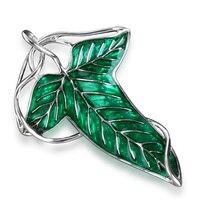 Cosplay Arwen's Evenstar Elf Princess Brooches LOTR Hobbit Elven Green Leaf Brooch LOTR for Women Fashion