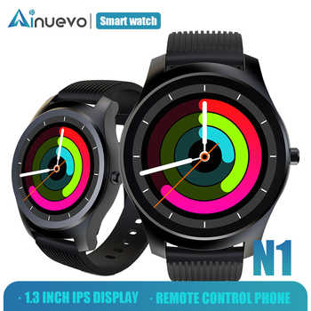 Ainuevo N1 Fashion Smart Watch Man 1.3 inch Whole-Circle IPS High-Definition LCD Heart Rate Monitor Blood Pressure - DISCOUNT ITEM  60% OFF All Category