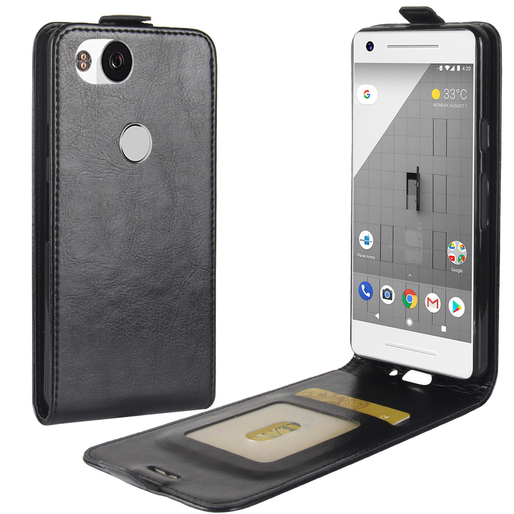 sports shoes 5f5ef 1ea87 US $5.87  Cyboris for Google Pixel 2 PU Leather Vertical Case for Google  Pixel 2 Wallet Case Card Holder Up Down Phone Cover Vertical case-in Flip  ...