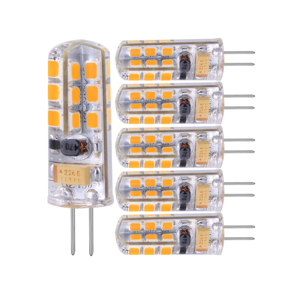 G4 LED Lamp 3W 12V/AC220V Warm/Cold White Mini LED Bulb 360 Beam Angle Chandelier Light 5pcs