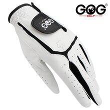 GOG перчатки для гольфа из натуральной овечьей кожи для мужчин, для левой руки, белые дышащие перчатки для гольфа,, 1 шт., новинка, Прямая поставка