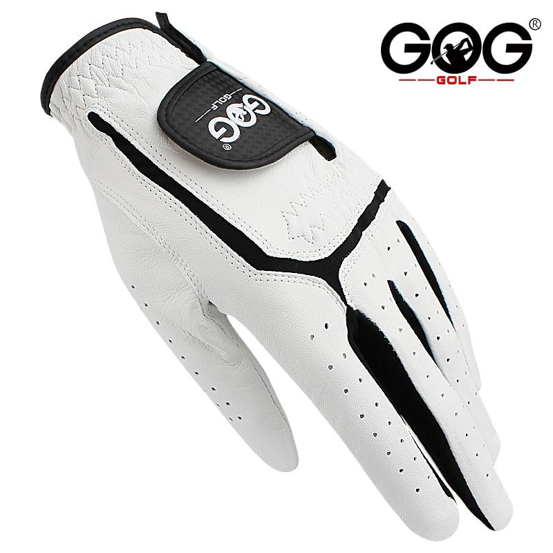 Перчатки Для Гольфа GOG из натуральной овечьей кожи для мужчин, белые дышащие перчатки для гольфов, бесплатная доставка, 1 шт., новинка, Прямая ...