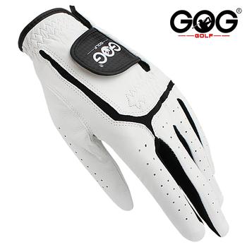 Rękawice golfowe GOG oryginalna skóra owcza dla mężczyzn lewa ręka białe oddychające rękawice dla golfistów darmowa wysyłka 1 sztuk nowy dropship tanie i dobre opinie Prawdziwej skóry M1ST