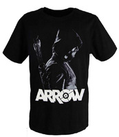 [XHTWCY] Green arrows spiderman T shirt dress green ARROW black round collar anime T shirt with short sleeves