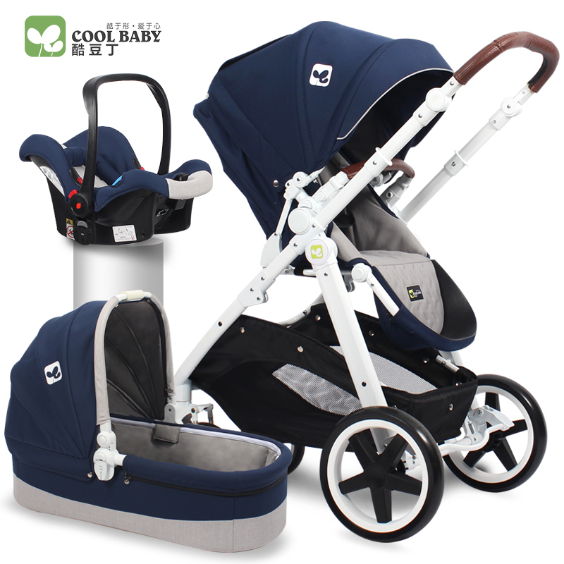 Coolbaby European high end baby stroller high landscape two way shock baby stroller folding portable can
