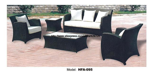 Rattan Chair Sofa Set With Outdoor Table Vine Garden Patio Furniture Factory Direct