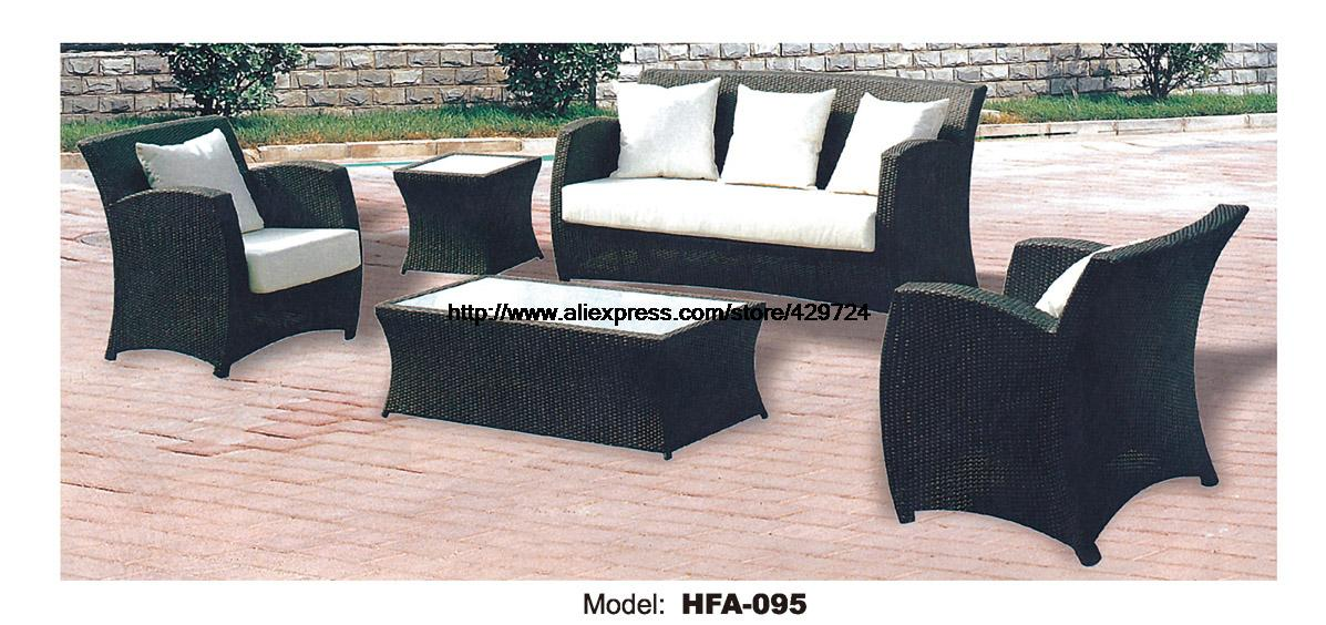 Rattan Chair Sofa Set With Outdoor Table Vine Garden Outdoor Patio Furniture  Sofa Factory Direct Sale
