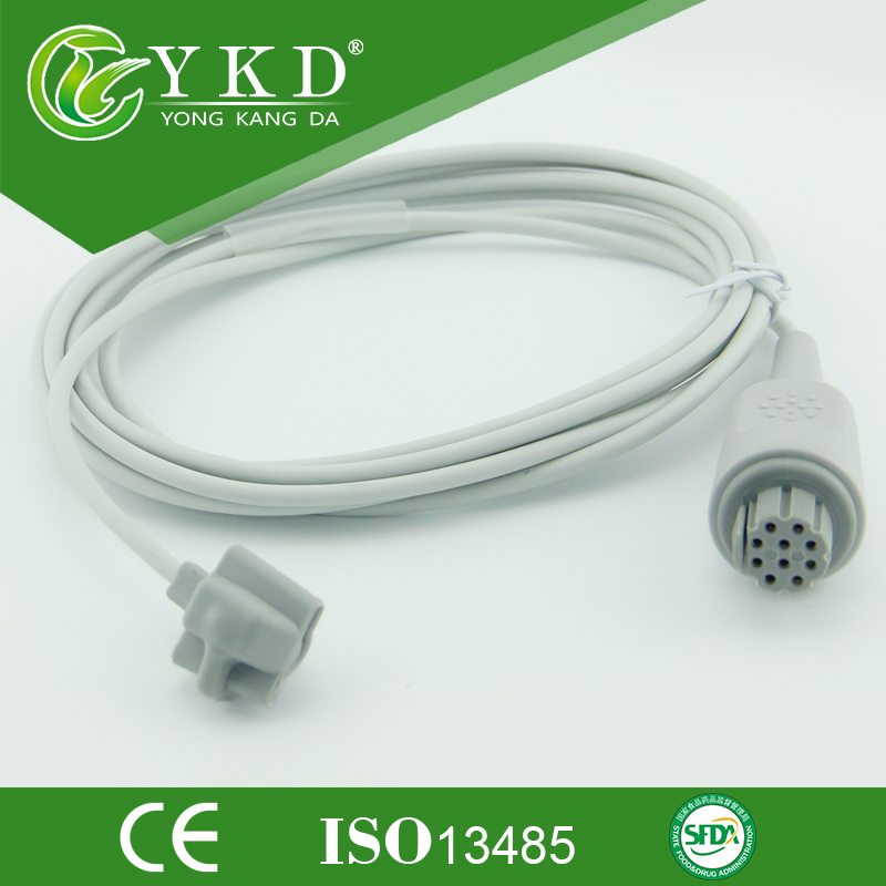 Datex 10 pin pediatric soft tip SpO2 sensor ,9ft, 3mDatex 10 pin pediatric soft tip SpO2 sensor ,9ft, 3m