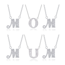 купить Peoniee initial letter necklaces custom letters pendant DIY chain gold pendant silver necklace women necklace  jewelry дешево