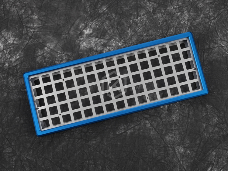 Anodized Aluminium case for xd75re xd75 60% custom keyboard acrylic panels acrylic diffuser can support Rotary brace