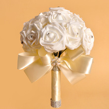 Wedding Accessories Bouquet Pins Bridesmaid Burgundy Bouquets White Foam Brides Flowers