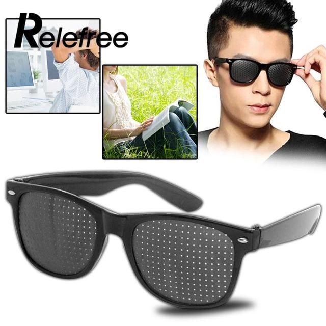 Pinhole Glasses Eye Care Eyesight Improver Eyeglasses Unisex Vision Care Anti-fatigue Outdoor Camping Hiking Eyewear